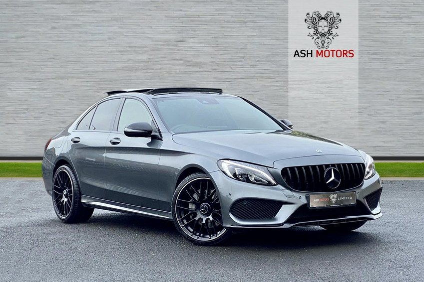 View MERCEDES C CLASS C250d 4MATIC 9G-Tronic Auto AMG Line Premium Plus - 20in ALLOYS - BODYKIT - PANORAMIC SUNROOF